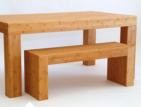 Solid Bamboo Table Benches
