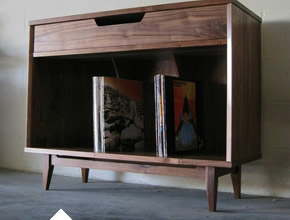 Solid Walnut Record Cabinet