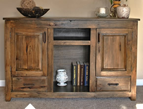Hickory Sideboard With Raised Panels