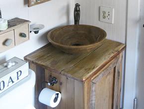 Sink Vanity Made With Reclaimed Lumber