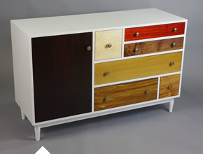 Maple Dresser With Exotic Drawer Fronts