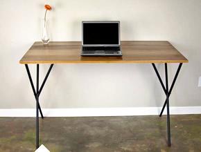 Minimalist Wood Top Desk