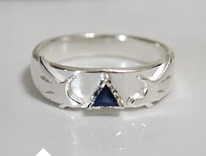 Sapphire Tri-Force Legend Of Zelda Inspired Engagement Ring