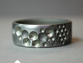Titanium Wedding Ring With Bubbles