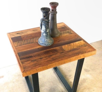 Reclaimed Patchwork End Table