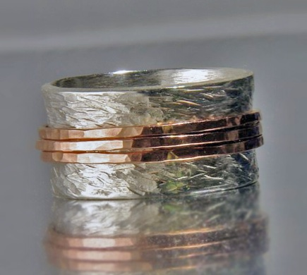 Silver & Rose Gold Band